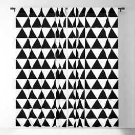 Black Triangle Pattern Blackout Curtain
