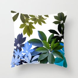 Leaves, Botaical Composition Throw Pillow