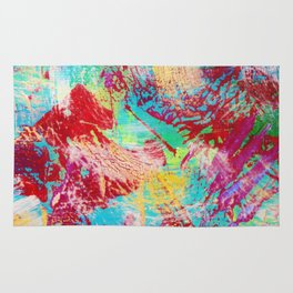 REEF STORM - Fun Bright BOLD Playful Rainbow Colors Underwater Ocean Reef Theme Coral Aquatic Life Rug