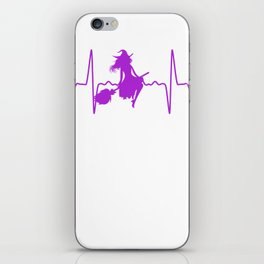 Witch Flying Heartbeat iPhone Skin