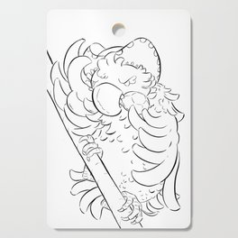 Pirate Parrot - ink Cutting Board