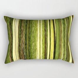 green beige brown yellow abstract striped digital design Rectangular Pillow