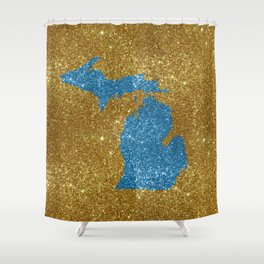 Michigan glitter Shower Curtain