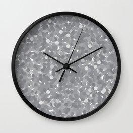 Sharkskin Polka Dot Bubbles Wall Clock
