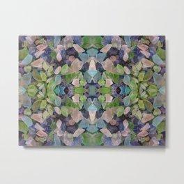 Sea glass mosaic Metal Print