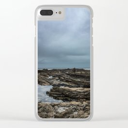 Stormy Tide Pool - Bude, England Clear iPhone Case