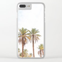 303. Two Summer Palm Trees, Jordanie Clear iPhone Case