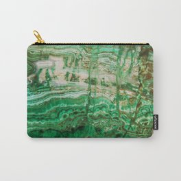 MINERAL BEAUTY - MALACHITE Carry-All Pouch