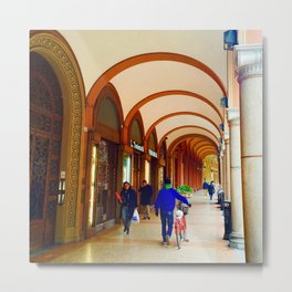Bologna Arcades Metal Print