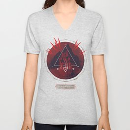 Mountain of Madness (red) Unisex V-Neck