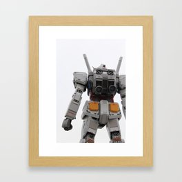 Gundam to the rescue! Framed Art Print