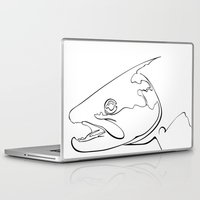 trout Laptop & iPad Skins featuring trout  by Ed Hepp