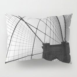Brooklyn Bridge Black and White Pillow Sham