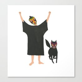 October: Fia and Wild Thing Canvas Print