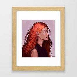 Red Hair Framed Art Print