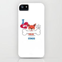 DINGO Cute Dog Gift Idea Funny Dogs iPhone Case