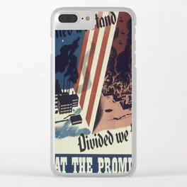 Vintage poster - United We Stand Clear iPhone Case