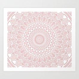 Light Rose Gold Mandala Minimal Minimalistic Art Print