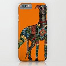 greyhound orange iPhone 6s Slim Case