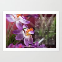 calendar Art Prints featuring Calendar 2016 by Lara Brambilla