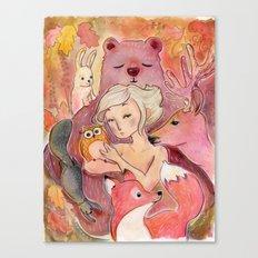 Woodland Creatures Canvas Print