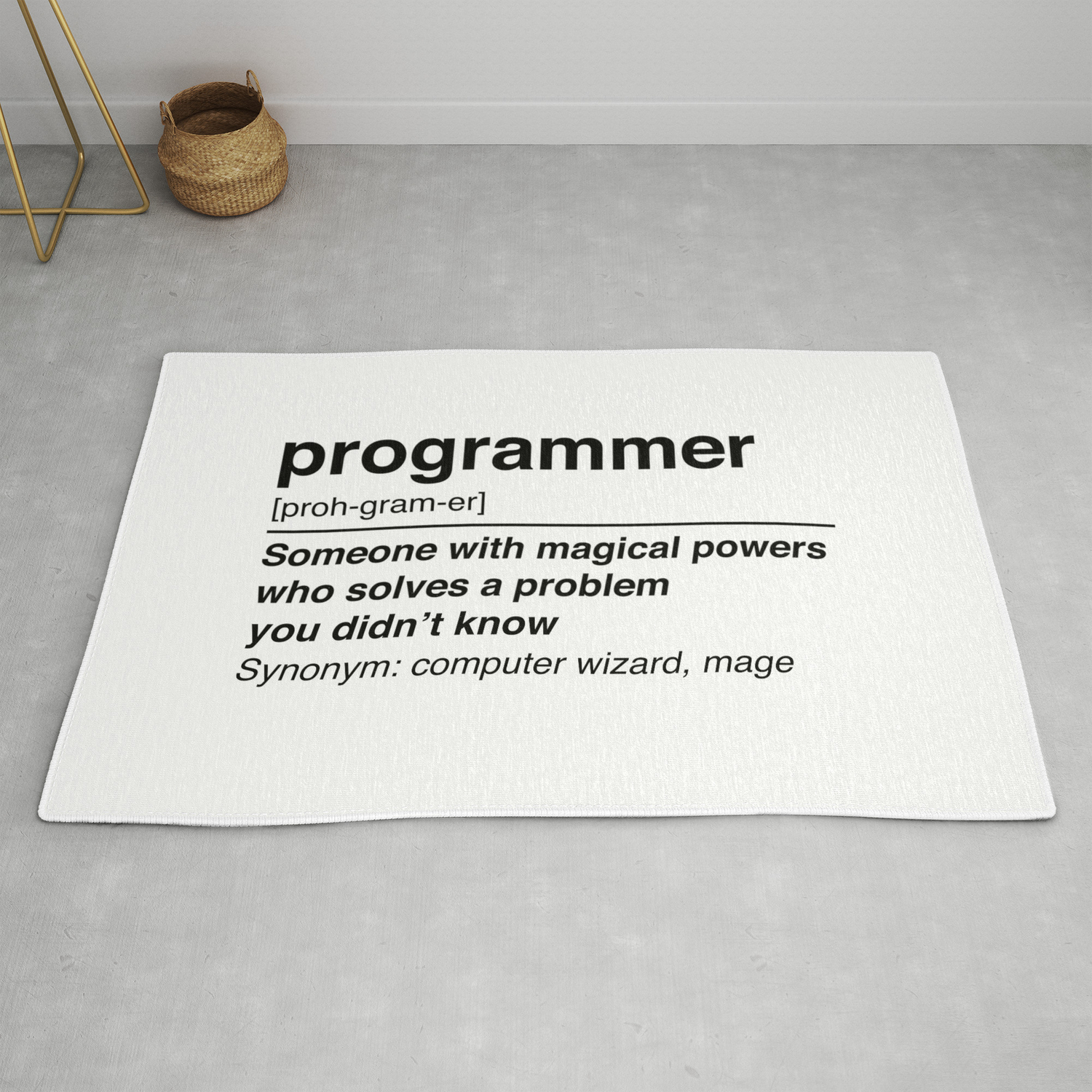 Programmer Definition Rug By