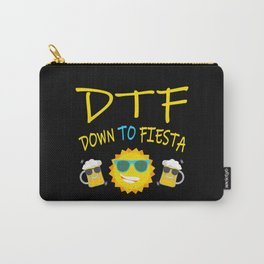 DTF Down To Fiesta Sun And Beers Carry-All Pouch
