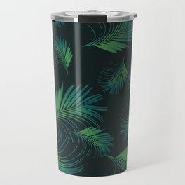 Tropical Night Palms Pattern #1 #tropical #decor #art #society6 Travel Mug