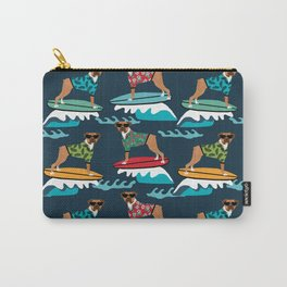 Boxer surfing pattern cute pet gifts dog lovers boxer dog Carry-All Pouch
