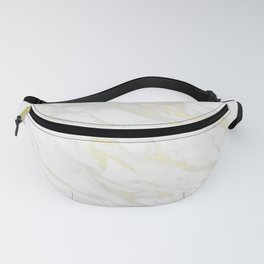 Gold & White Marble Fanny Pack