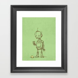 A Robot's Ice Cream Framed Art Print