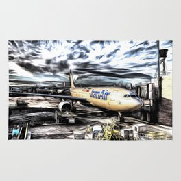 Iran Air Airbus A330 Art Rug