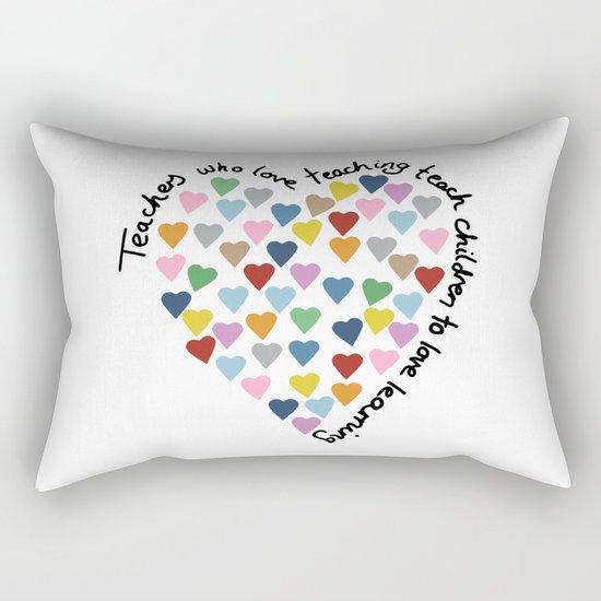 Hearts Heart Teacher Rectangular Pillow