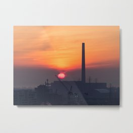 Sunrise over the Portlands Metal Print