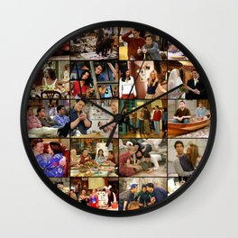 Friends Scene Collage Wall Clock