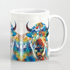 Colorful Buffalo Art - Sacred - By Sharon Cummings Mug