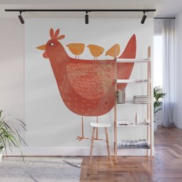 Hen and Chicks Wall Mural