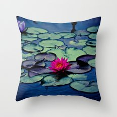 Twilight at the Lily Pond Throw Pillow