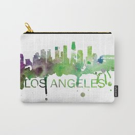 Los Angeles Skyline Watercolor Art Print Carry-All Pouch