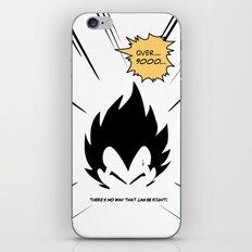 IT'S OVER 9000 (Dragonball, Vegeta)  iPhone & iPod Skin