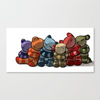 cuddle Canvas Prints featuring Cuddle by Friederike Ablang