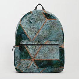 Emerald copper geometric Backpack