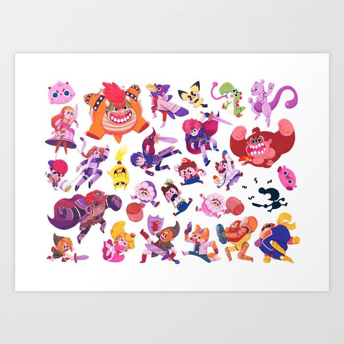 Melee Art Print