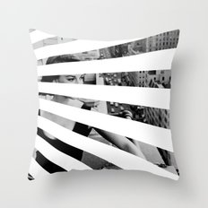 City Rays Throw Pillow