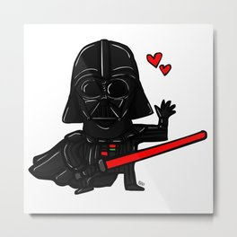 Darth Vader in love Metal Print