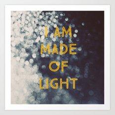 Made Of Light Art Print