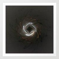 Metallic Swirl Fractal Art Print