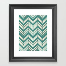 Weathered Chevron Framed Art Print