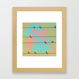 Birds of a Feather, Birds on Wires Framed Art Print