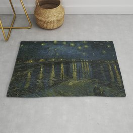 Starry Night Over the Rhone by Van Gogh Rug